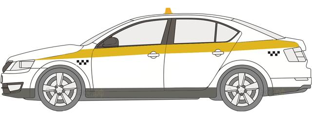 Оклейка такси по ГОСТ для Московской области