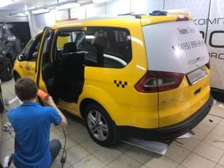 Оклейка минивэна «Ford Galaxy» для работы в Яндекс Такси