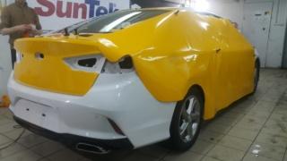 «Huyndai SONATA» - полная оклейка желтой пленкой «ORACAL 551»
